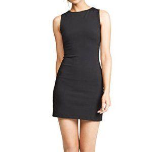 Susana Monaco Slit Open Back Mini Black Dress Sz M